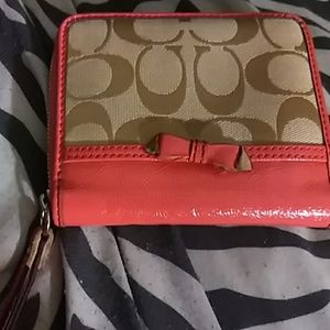 Coach Pink and Cream Colored Wallet